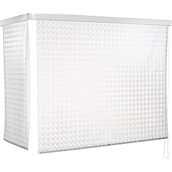 ECO-DuR 4024879002527 - Cortina de Ducha Enrollable (Angular 137 x 62 cm) diseño de peonzas Color Blanco: Amazon.es: Hogar