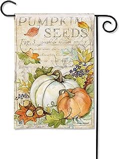 Sponsored Ad - BreezeArt Studio M Pumpkin Seed Sack Fall/Winter Decorative Garden Flag – Premium Quality, 12.5 x 18 Inches