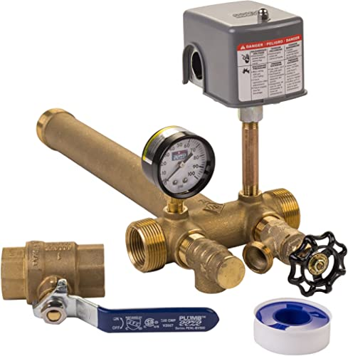 "Plumb eeze Pressure Tank Installation Kit with 1"" Brass Union tank tee to fit most pressure tanks with diameters up t..."