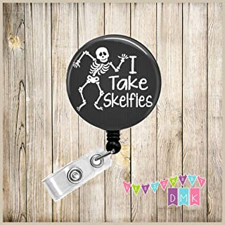 I Take Skelfies - Black - Xray Tech - Button Badge Reel