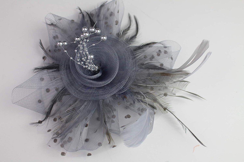 Flydreamfeathers Fascinator Hat for Women Tea Party Wedding Kenturky Derby Headband, 1920s Fascinator Hat