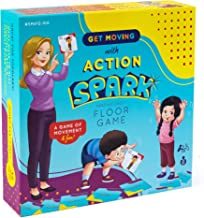 Action Verb Cards Floor Game, Interactive and Movement Kids Game, Educational Learning Materials for Children, Matching Ca...