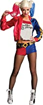 Rubie's Official Harley Quinn Ladies Fancy Dress Halloween Suicide Squad Womens Villain Costume, Small (6-10)