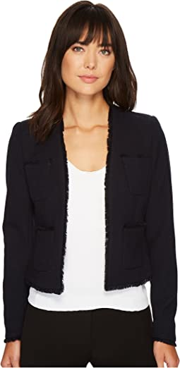 Ellen Tracy - Fringe Trimmed Jacket