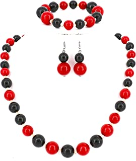 the red lady necklace