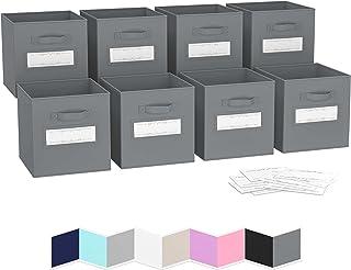 Boite de Rangement[Lot De 8] - Caisse Cube Pliable   Rangement Chaussures et Bureau   Bac Panier Coffre a Jouet   Parfait ...