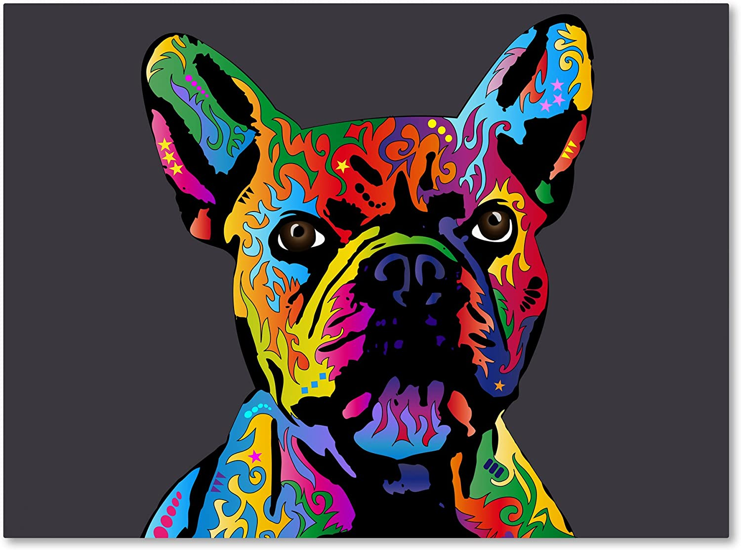 French Outlet SALE Bulldog Grey by Michael 14x19-Inch Tompsett Canvas Manufacturer OFFicial shop Wall