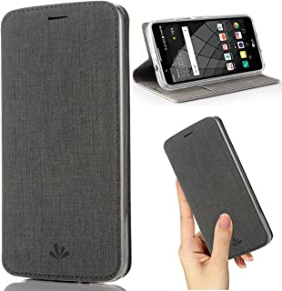 LG Stylo 3 Case,Wallet Leather Flip Case Stand/Kickstand Card Holder Magnetic Full Body TPU Bumper Slim Thin PU Case for LG Stylo 3/LG Stylus 3 (Gray)