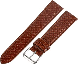 Men's 20mm Leather Watch Strap, Color:Beige (Model: MSM843RR-200)