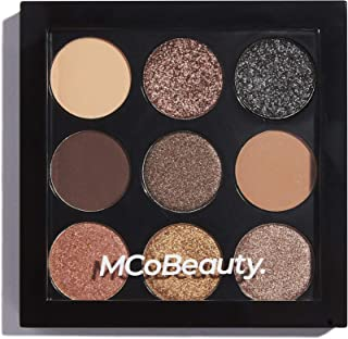MCoBeauty Eyeshadow Makeup Palette | 9 Highly Pigmented Burgundy and Smokey Nudes
