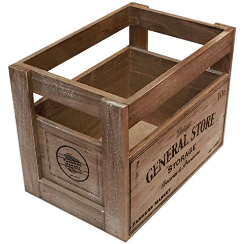 Vintage Wooden Crate Amazoncouk