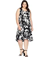 Plus Size High-Low Hem Dress