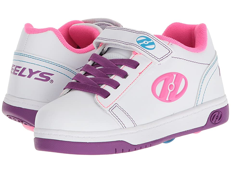 Heelys Dual Up X2 (Little Kid/Big Kid/Adult) (White/Purple/Neon Multi) Girls Shoes