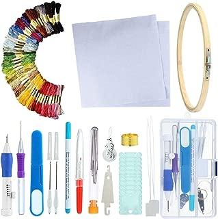 Juego de bolígrafos de bordado mágico, aguja de punzón, bolígrafo de bordado, punzón de costura, juego de punzón, herramienta de manualidades para bordar hilos DIY costura, plástico, C, Estándar