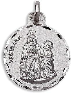 Medalla Religiosa - Medalla Santa Ana 21 mm. Plata de Ley 92