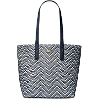 MICHAEL Michael Kors Junie Large Woven Tote Bag (Admiral/Optic)