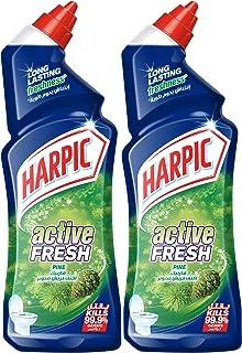 Harpic Toilet Cleaner Liquid Active Fresh, Pine, 2 x 500ml
