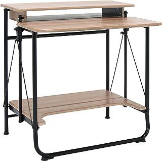 Calico Designs Stow Away Folding Desk, Black/Driftwood