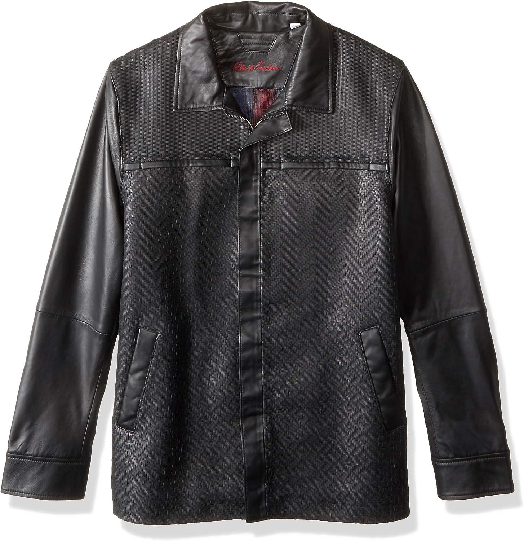 Robert Graham Men's Felstead Leather Shirt Jacket
