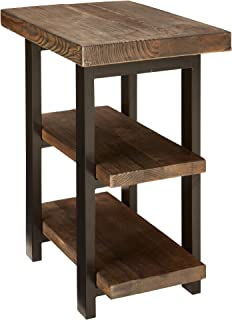 Alaterre AZMBA0220 Sonoma Rustic Natural 2 Shelf End Table, Brown