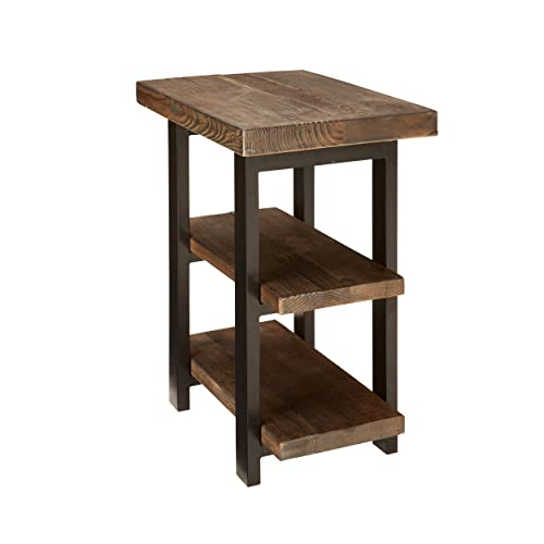 Alaterre AMBA0220 AZMBA0220 Sonoma Rustic Natural 2 Shelf End Table, Brown