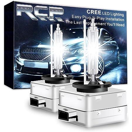 Sidaqi 2PCS D1S HID Xenon Headlight Bulbs,35W 6000K Xenon White Super Bright Replacement for Car Headlight Bulbs High//Low Beam Lamp