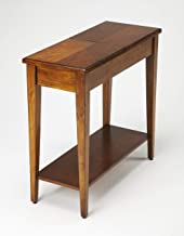 Butler Specialty Jansen Side Table with Lift-Top Storage Compartments in Light Cherry Wood Finish