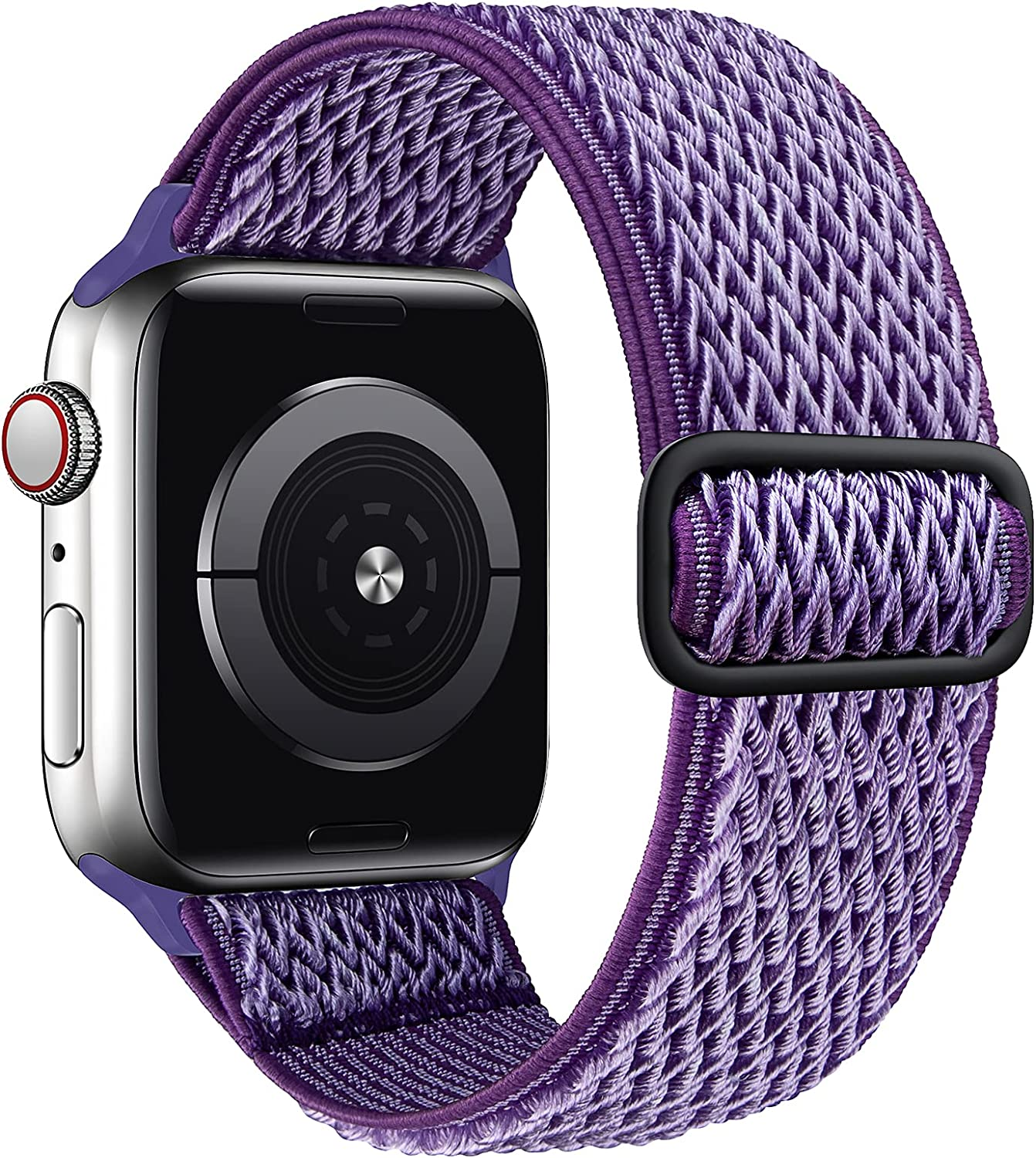 SAMYERLEN Stretchy Solo Loop Bands Compatible with Apple Watch Band 38mm 40mm 42mm 44mm for Men Women Adjustable Weave Elastic Braided Nylon Wristband for iWatch Series 6 5 4 3 2 1 SE