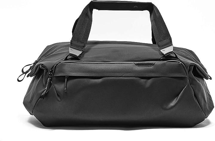Borsa da palestra elegante peak design travel duffel 35l zwart BTRD-35-BK-1