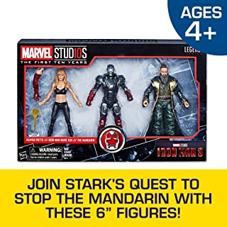 Hasbro Marvel Legends Series Studios The First Ten Years Iron Man 3 Movie Iron Man Mark Xxii, Pepper Potts, The Mandarin 6