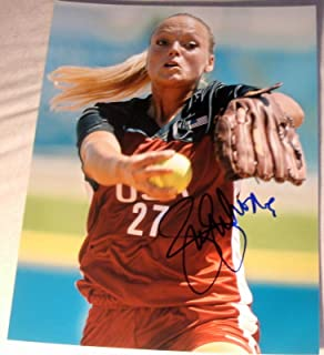 Jennie Finch Signed Autograph Sexy Babe In Action Usa Olympics 11x14 Photo Coa - Autographed Sports Photos