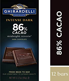 Ghirardelli Chocolate Intense Dark Bar, Midnight Reverie, 3.17 Ounce, Pack of 12