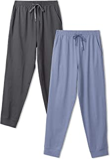 DAVID ARCHY Men's Pyjamas Bottoms Cotton Mens Lounge Pants with Drawstring, Breathable and Comfortable Mens PJS Bottoms wi...