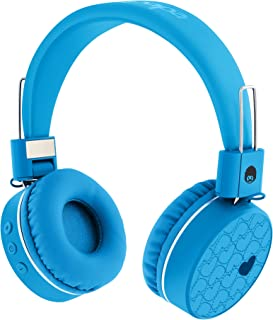 Rockpapa K8 Foldable Childrens Kids Wireless Headphones Bluetooth On Ear Headset with MIC and Remote Control, Hands-Free Call, Including Wired Mode Blue