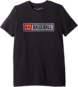 Under Armour Kids - Baseball Wordmark Short Sleeve Tee (Big Kids)