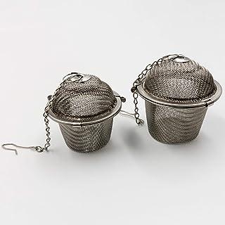 2PCS Durable Reusable 304 Stainless Steel Mesh Herbal Ball Tea Spice Strainer Tea kettle Locking Tea Filter Infuser