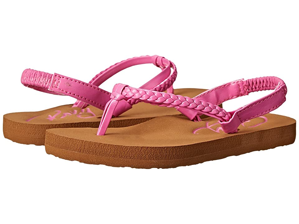 Roxy Kids Cabo (Toddler) (Hot Pink) Girls Shoes