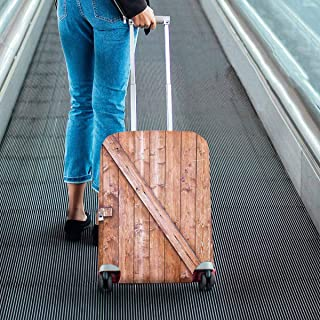 Old Rustic wooden door Pattern Print on Suitcase Protectors Luggage Covers Fit 18-28 Inch Luggage