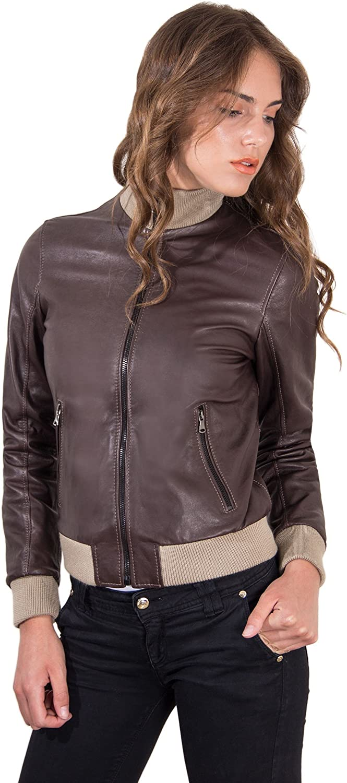 Dark Brown Lamb Leather Bomber Vintage Jacket