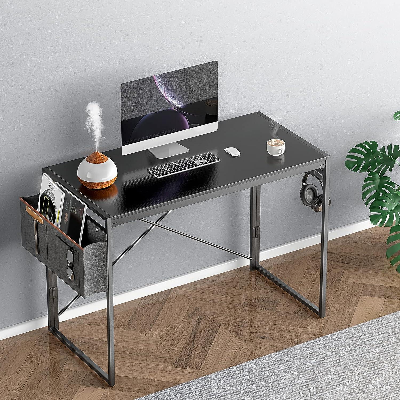 40 inch Desk for Home Office, Black Desk