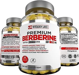 Premium Berberine HCL 1200mg for Blood Sugar Glucose Metabolism, Weight Management, Immune System, Insulin Support, Diabetes, Cardiovascular & Gastrointestinal Function – Berberine HCI Root Supplement