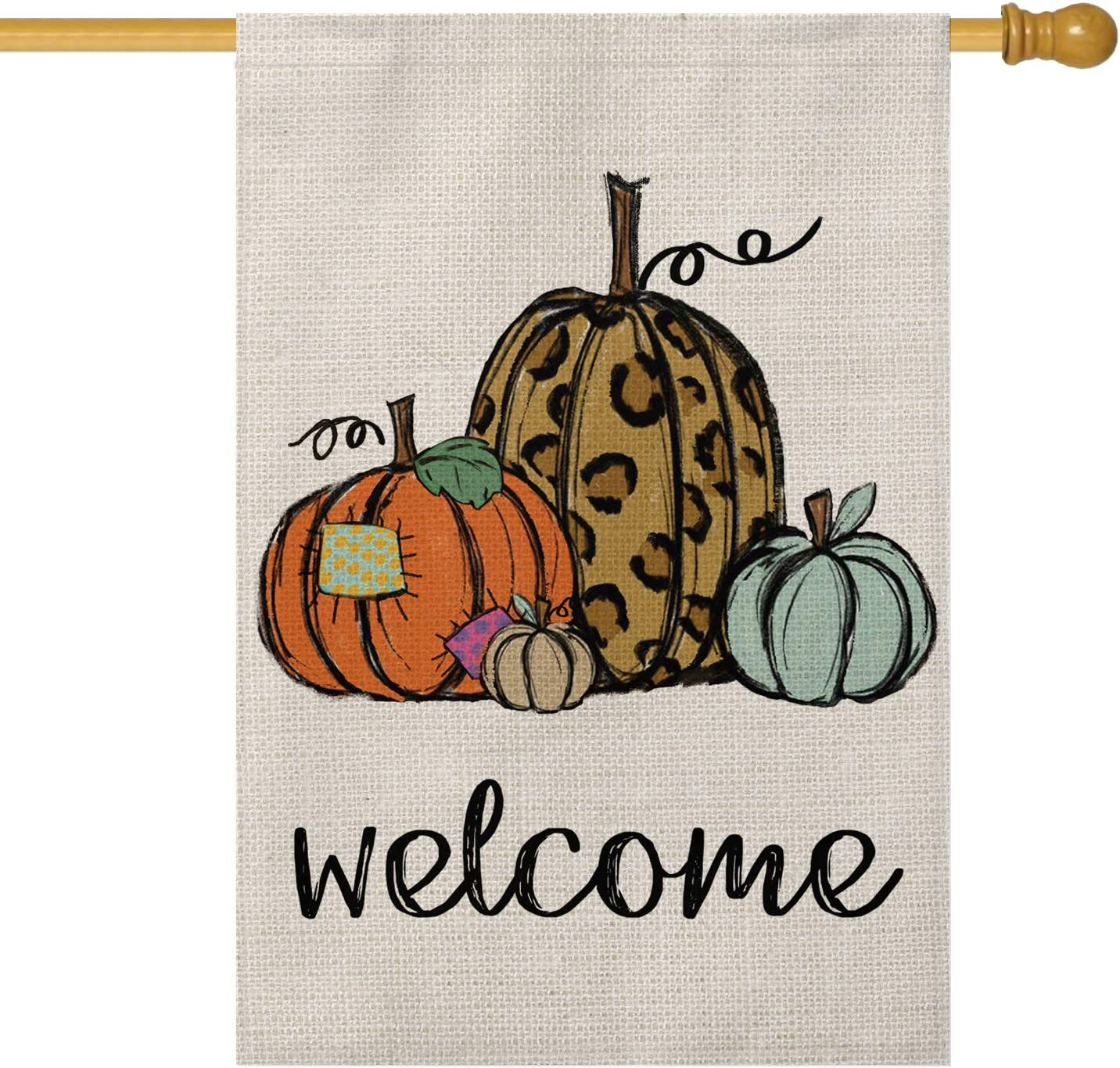 AVOIN Pumpkin Welcome House Flag Vertical Tha Fall Sized Double Super beauty product 25% OFF restock quality top