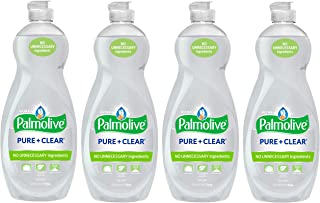 Palmolive Ultra Liquid Dish Soap, Pure and Clear, 4 Count