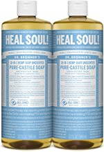Dr. Bronner's - Pure-Castile Liquid Soap (Baby Unscented) - Made with Organic Oils, 18-in-1 Uses: Face, Hair, Laundry and ...