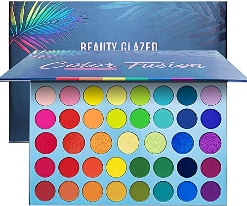 39 Color Rainbow Eyeshadow Palette - Professional Makeup Matte Metallic Shimmer Eye Shadow Palettes - Ultra Pigmented...