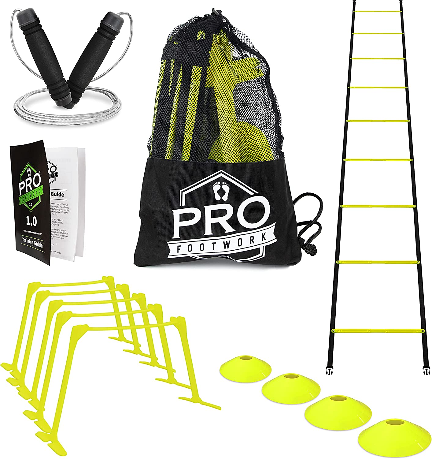 Pro Footwork Agility Spring new work Ladder and Hurdle Bundle In Industry No. 1 Training by Set