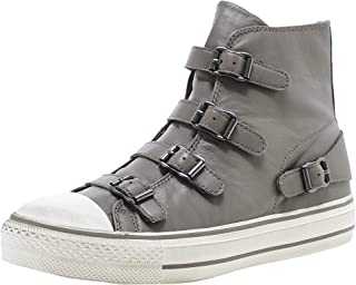 ASH Women's Leather Virgin High Top Trainers Brown