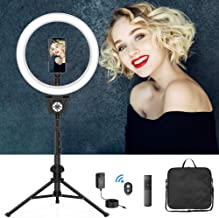 "$45 » 12"" Selfie Ring Light with Tripod Stand, Flexible Phone Holder, Bluetooth shutter Remote, Carry Bag for Live Stream/Makeup..."