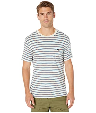 RVCA Vincent Stripe Crew (Silver Bleach) Men