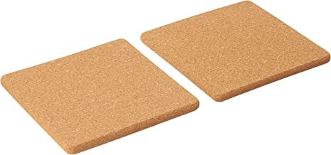 Dolphin Collection M15010S2 Square Cork Coaster, 145mm x 145mm (Pack of 2) Brown